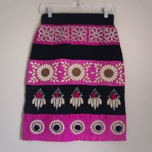 Anthropologie Skirts - Anthropologie Embroidered Catrina Pencil Skirt